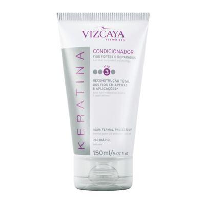Imagem 7 do produto Shampoo Keratina Vizcaya 200ml + Condicionador Keratina Vizcaya 150ml