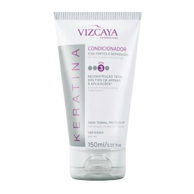 Imagem 9 do produto Shampoo Keratina Vizcaya 200ml + Condicionador Keratina Vizcaya 150ml