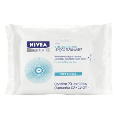 Imagem 1 do produto Lenço Esfoliante Pure Effect Nivea Visage 20 unidades