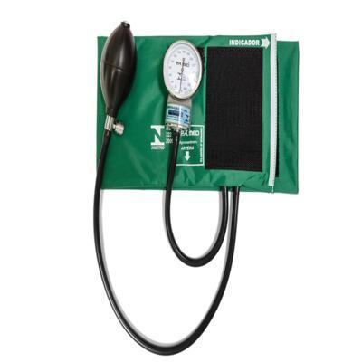 Imagem 2 do produto Kit Esteto Simples com Aparelho de Pressão Verde P.A. Med
