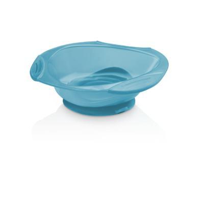 Prato Raso com Ventosa Funny Meal Azul Multikids Baby - BB049