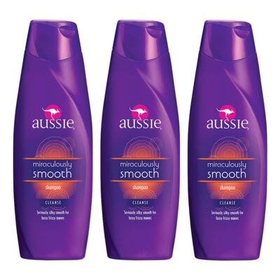Kit 3 Shampoo Aussie Smooth 400ml