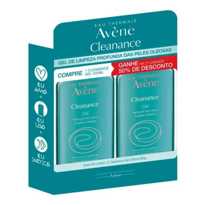 Kit Avène Cleanance Gel de Limpeza 200ml 2 Unidades