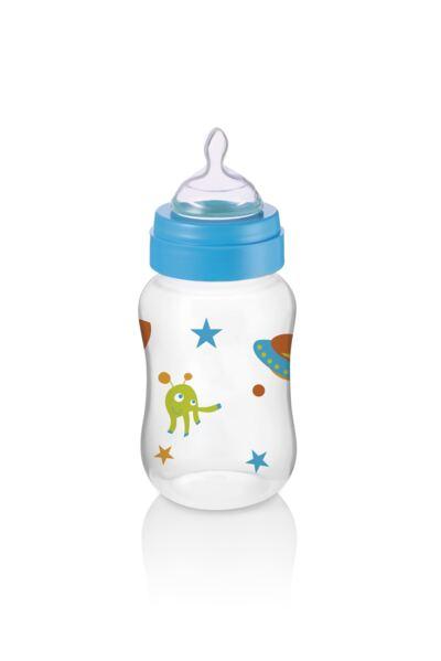 Imagem 1 do produto Mamadeira Boys & Girls Pp Azul Ortonatural 250Ml Multikids Baby - BB105