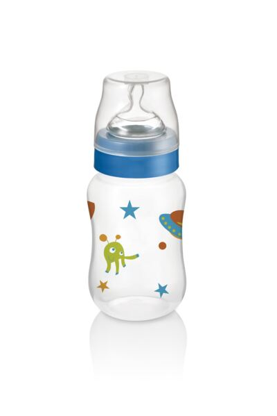Imagem 2 do produto Mamadeira Boys & Girls Pp Azul Ortonatural 250Ml Multikids Baby - BB105