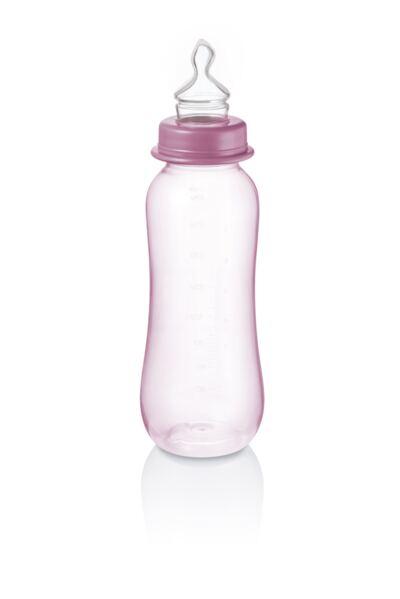 Imagem 1 do produto Mamadeira Colors Pp Rosa Ortoflex 250Ml Multikids Baby - BB112
