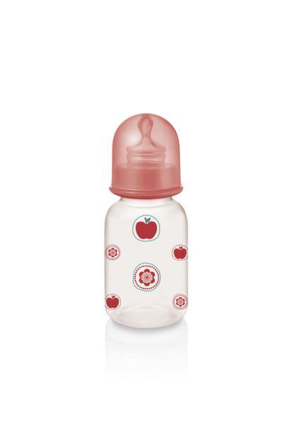 Imagem 2 do produto Mamadeira Nature Pp Vermelha Ortoflex 125ml Multikids Baby - BB114