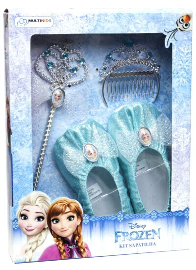 Imagem 1 do produto Acessórios Frozen - Sapatilhas, Coroa e Varinha - BR620