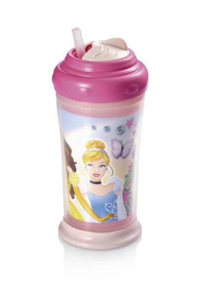 Imagem 1 do produto Copo Térmico com Canudo de Silicone Princesas Multikids Baby - BB090