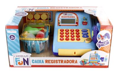 Imagem 3 do produto Creative Fun Caixa Registradora Azul Multikids - BR386
