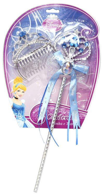 Imagem 1 do produto Acessórios Princesas Cinderella - Coroa e Varinha - BR633