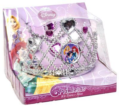 Acessórios Princesas Kit Tiara e Joias 3 Peças - BR628