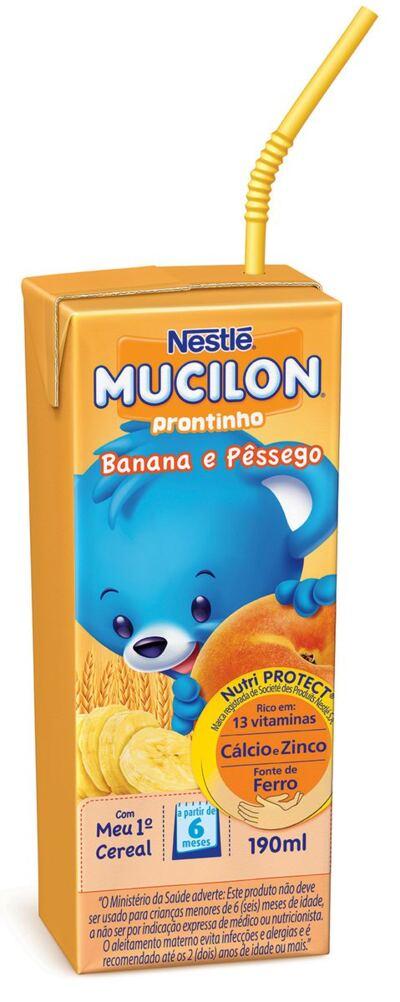 Bebida Láctea Nestlé Mucilon Prontinho Banana com Pêssego 190ml
