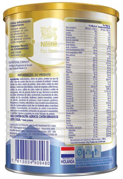 Imagem 3 do produto Fórmula Infantil NAN Sem Lactose Lata 400g