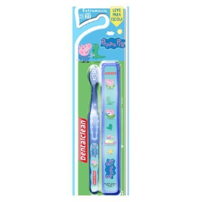 Escova Dental Dentalclean + Estojo Peppa Pig +2 Anos Extra Macia - 1 unidade
