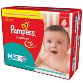 Fralda Pampers Supersec Economica - M | 30 unidades
