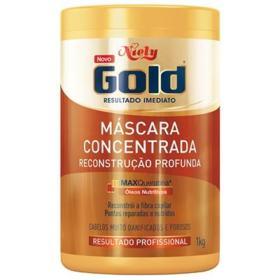 Máscara Niely Gold Concentrada Reconstrução Profunda 1kg