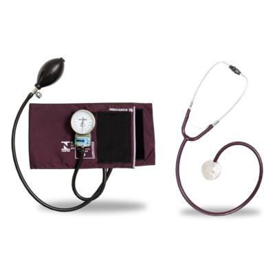 Imagem 3 do produto Kit Esteto Simples Com Aparelho de Pressão Bordo P.A. Med- excluir