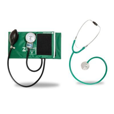 Imagem 3 do produto Kit Esteto Simples Com Aparelho de Pressão Verde P.A. Med-excluir