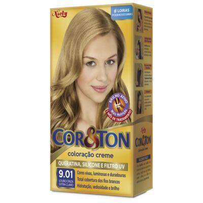 Tintura Niely Cor & ton 9.01 Louro Cinza Extra Claro