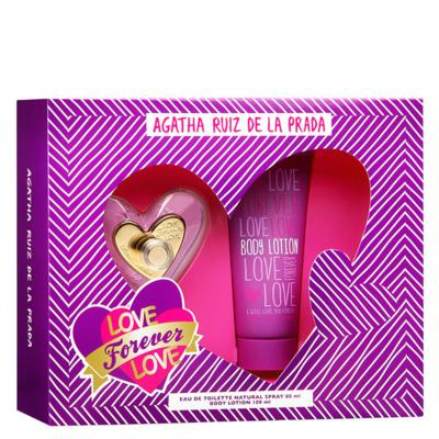 Imagem 1 do produto Love Forever Love Agatha Ruiz de La Prada - Feminino - Eau de Toilette - Perfume + Loção Corporal - Kit