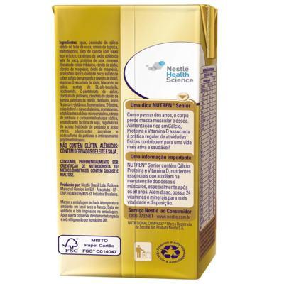 Imagem 2 do produto Suplemento Alimentar Nestlé Nutren Senior Mix de Frutas 200ml