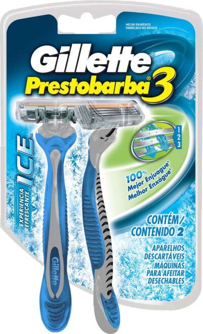 Aparelho de Barbear Gillette Prestobarba 3 Ice - 2 Unidades