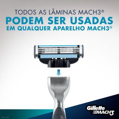 Imagem 4 do produto Aparelho de Barbear Mach3 Gillette - 1 Un