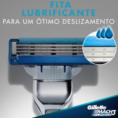 Imagem 2 do produto Carga Gillette Mach 3 Turbo - 4 Unidades