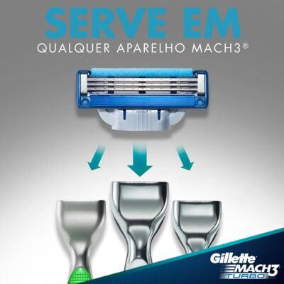 Imagem 6 do produto Carga Gillette Mach 3 Turbo - 4 Unidades