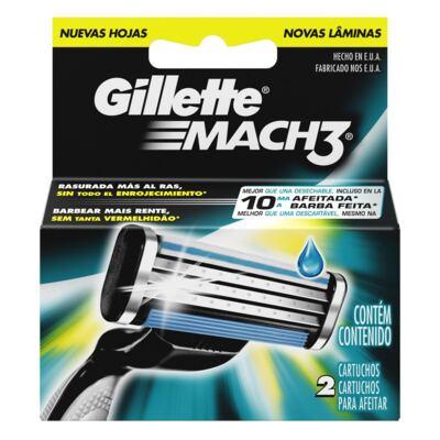 Imagem 1 do produto Carga Gillette Mach 3 - 2 Unidades