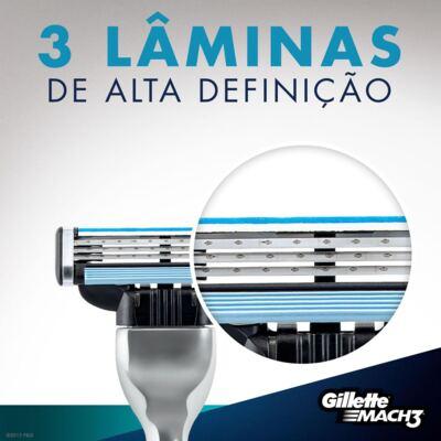 Imagem 3 do produto Carga Gillette Mach 3 - 2 Unidades