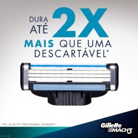 Gillette Mach 3 Refil Barbear Masculino -  | 2 unidades