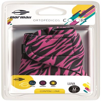 Luva Colors Zebra Pink Mormaii - P