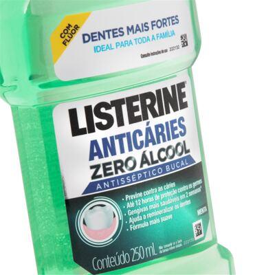 Imagem 2 do produto Antisséptico Bucal Listerine Anticáries Zero Álcool 250ml