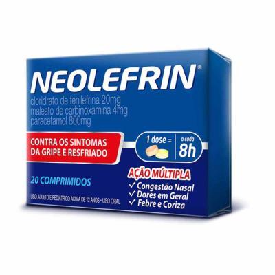 Neolefrin - 400mg + 20mg + 400mg + 4mg   20 comprimidos