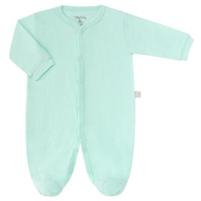 Macacão longo para bebe em suedine Mint - Tilly Baby - TB13113.11 MACACAO BASICO DE SUEDINE VERDE-P