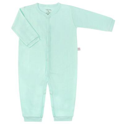Macacão longo para bebe em suedine Mint - Tilly Baby - TB13113.11 MACACAO BASICO DE SUEDINE VERDE-G