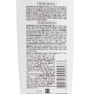 Imagem 6 do produto Hidratante Corporal Neutrogena Body Care Intensive Extra Care - 200ml