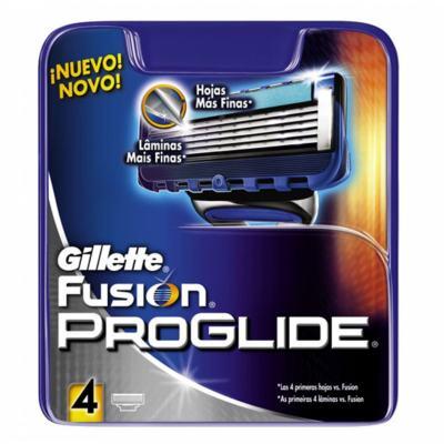 Imagem 1 do produto Carga Gillette Fusion Proglide com 4 Cartuchos