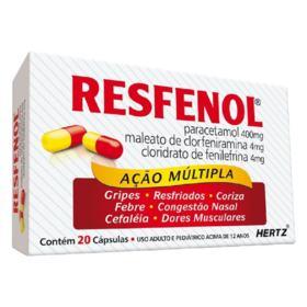 Resfenol - 400mg + 4mg + 4mg | 20 cápsulas gel