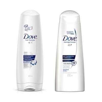 Imagem 1 do produto Shampoo e Condicionador Dove Reconstrução Completa + Creme Óleo Nutrição