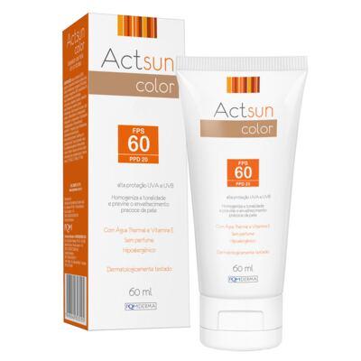 Imagem 1 do produto Protetor Solar Facial com Cor de Base Fps60 Actsun Color - Protetor Solar - Universal