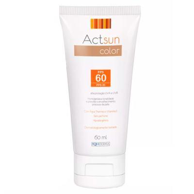 Imagem 2 do produto Protetor Solar Facial com Cor de Base Fps60 Actsun Color - Protetor Solar - Universal