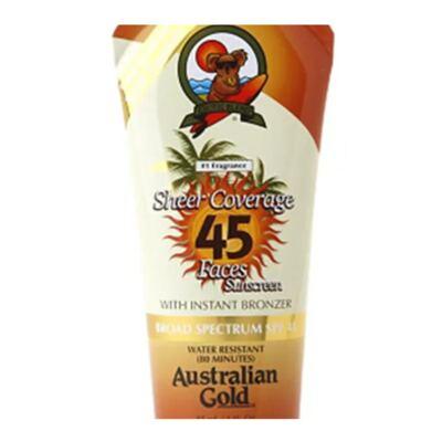 Imagem 2 do produto Protetor Solar Australian Gold Sheer Coverage Faces Self-Tanner SPF 45 - 88ml
