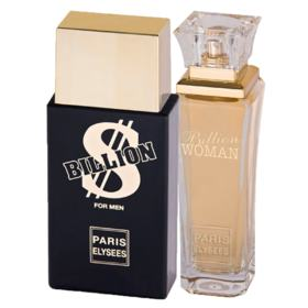 Paris Elysees Billion + Billion Woman - Perfume Feminino + Perfume Masculino - Kit