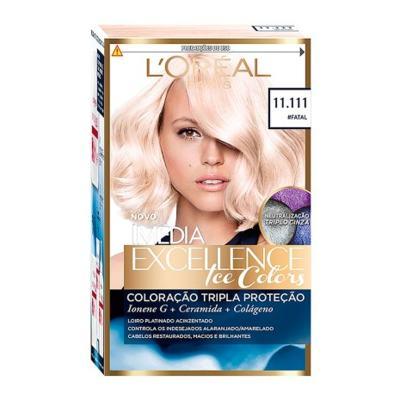 Imagem 1 do produto Tintura Creme Imédia Excellence L'oréal Ice Colors #Fatal 11.111 Kit