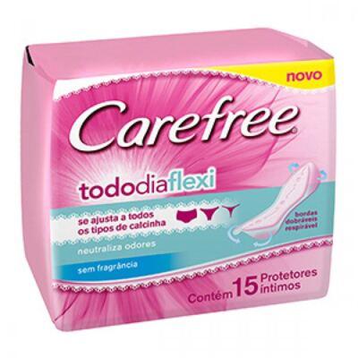 Imagem 1 do produto Protetor Diário Carefree Todo Dia Flexi sem Perfume 15 Unidades