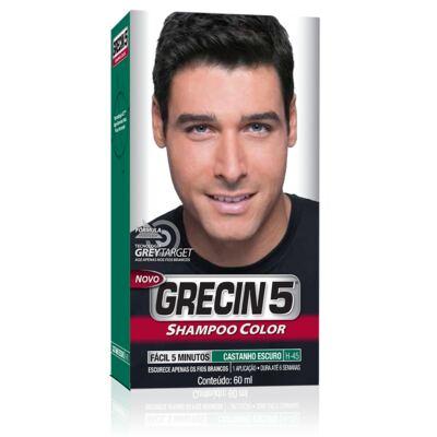 Tintura Grecin 5 Shampoo Color Castanho Escuro