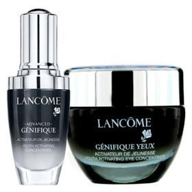 Lancôme Génifique Sérum + Yeux Kit - Rejuvenescedor Facial + Cuidado Global para o Contorno dos Olhos - Kit